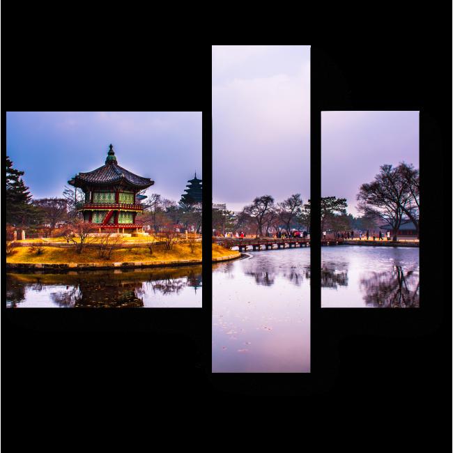 Модульная картина Дворцовый комплекс Кёнбоккун зимой, Сеул