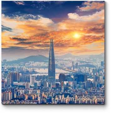 Величественный Сеул в лучах солнца