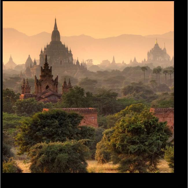 Модульная картина сказки баган Мьянма руины