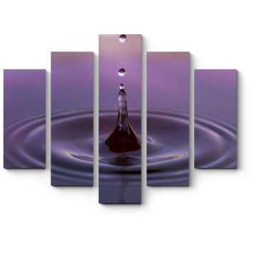 Модульная картина Капля воды