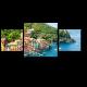 Морской берег с яркими домиками в Портофино