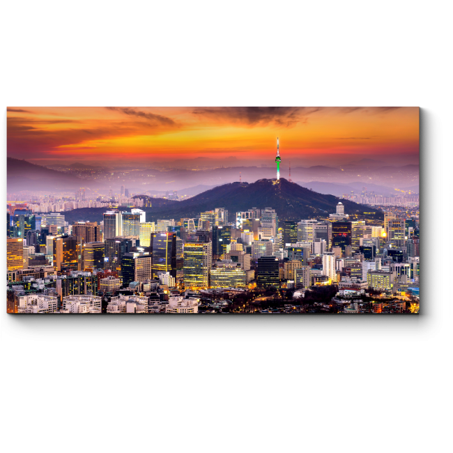Модульная картина Краски Сеула