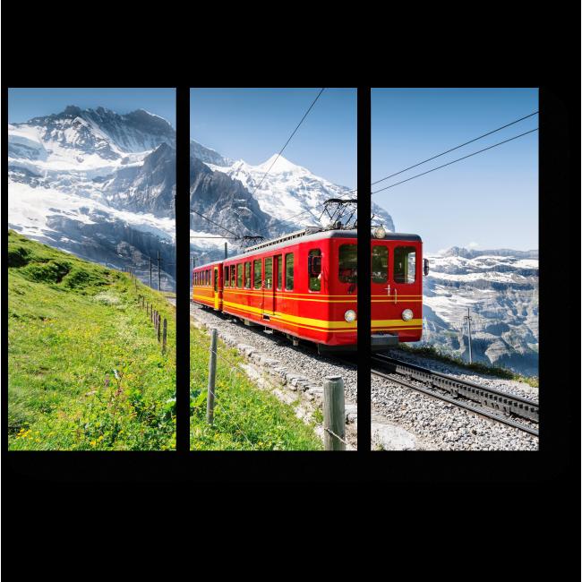 Модульная картина Знаменитый поезд в Солнечный день