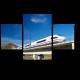 Вид на скоростной поезд