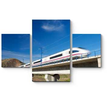 Модульная картина Вид на скоростной поезд