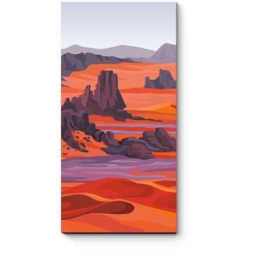 Модульная картина Огненная пустыня