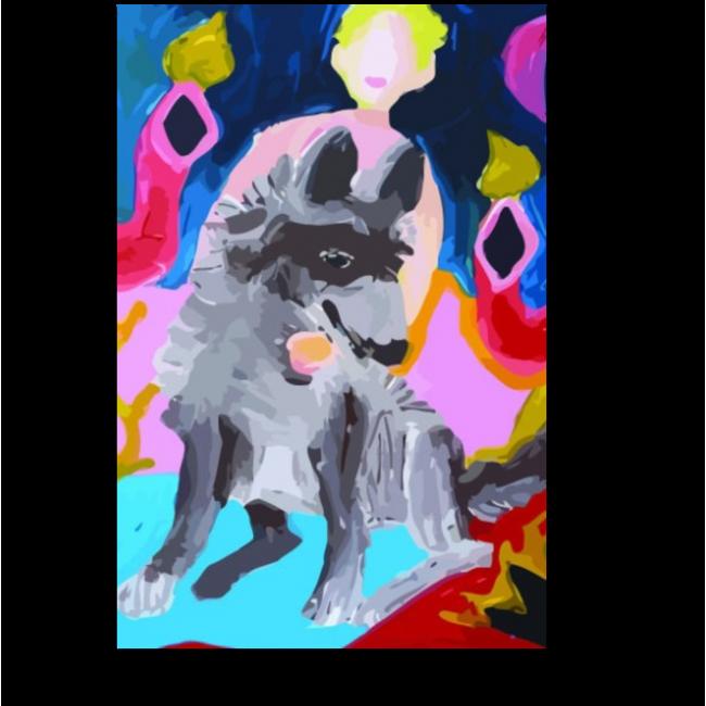 Модульная картина Мальчик с собакой