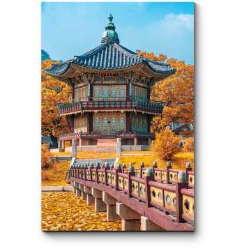 Модульная картина Осень в Корее, Сеул