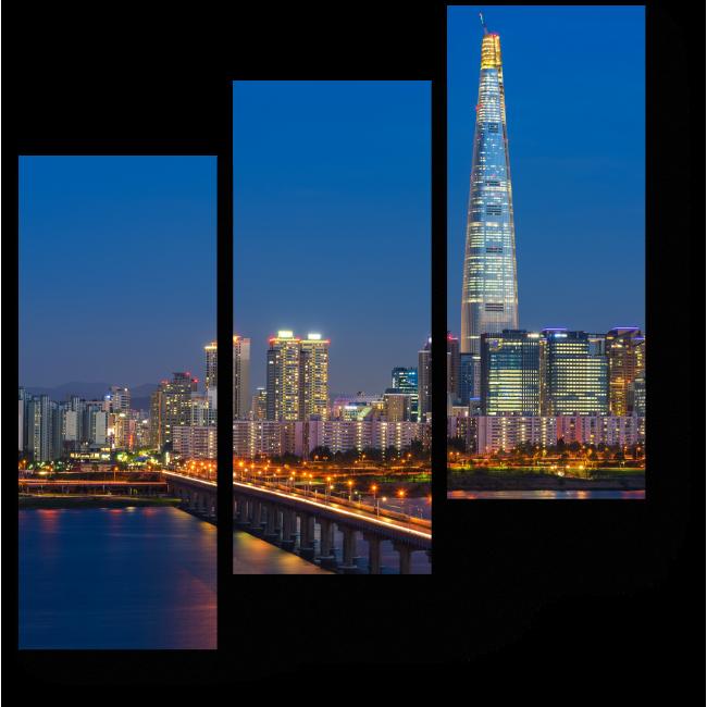 Модульная картина Сверкающий Сеул