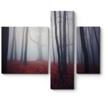 Осенний лес туманным утром