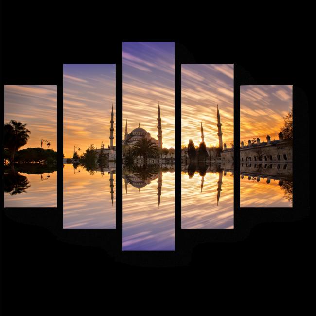 Модульная картина Рассвет в Стамбуле