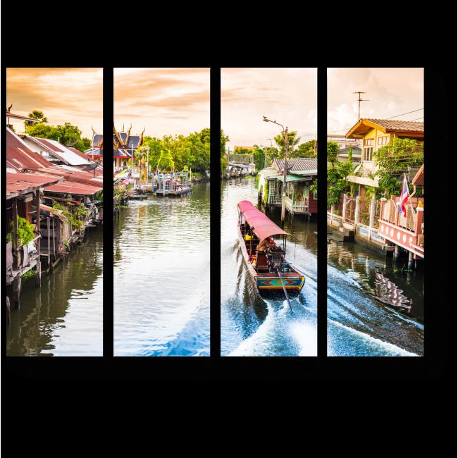 Модульная картина Путешествие по каналам Бангкока