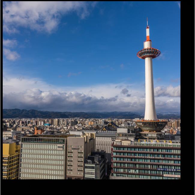 Модульная картина Панорама летнего Киото
