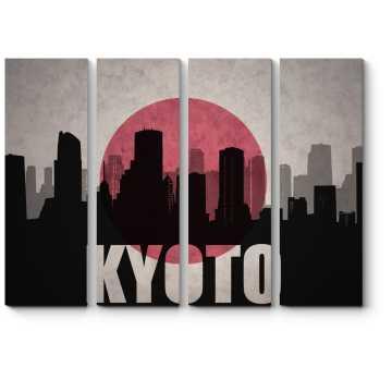 Модульная картина Силуэт Киото
