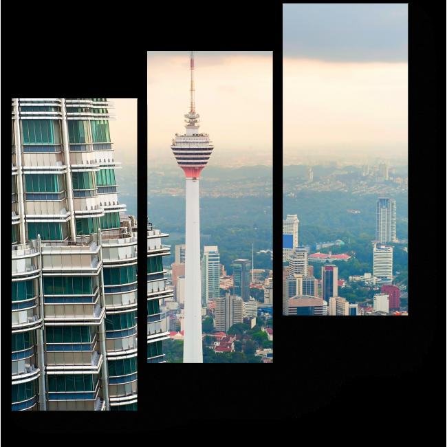 Модульная картина Над крышами Куала-Лумпур