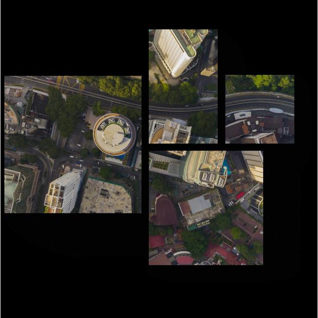 Модульная картина Над небоскребами Куала-Лумпур