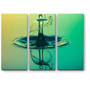 Изумрудная капля на воде