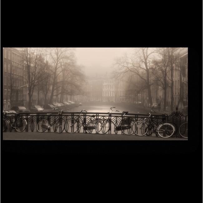 Модульная картина Великолепный Амстердам туманным полднем