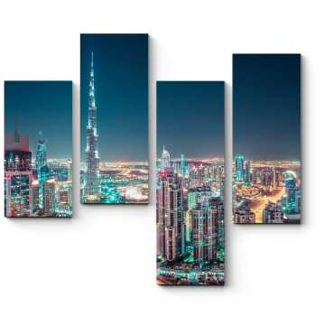 Модульная картина Сияющие огни Дубая