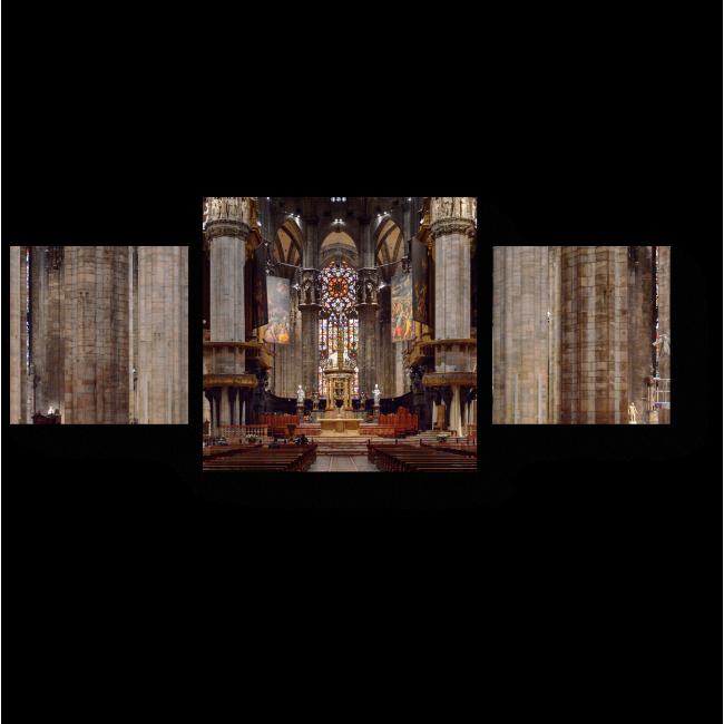 Модульная картина Внутри Миланского собора