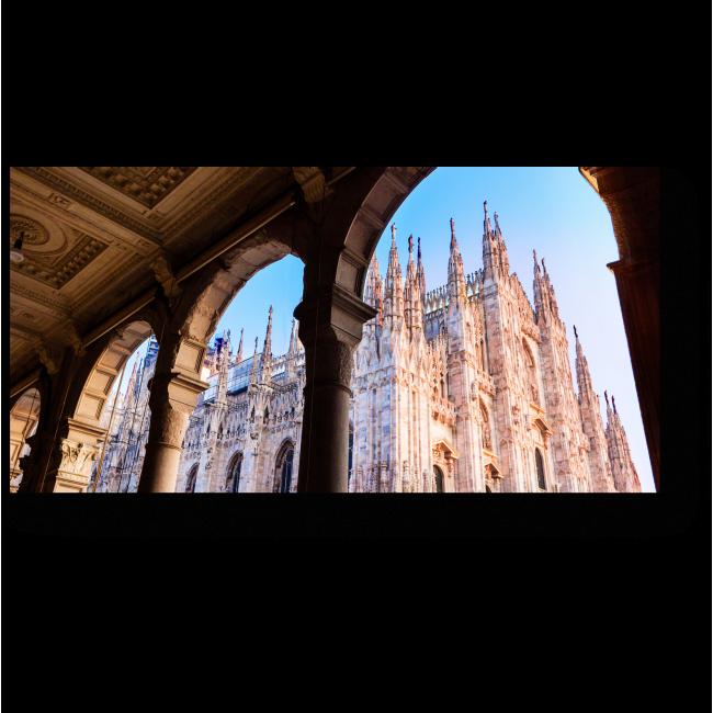 Модульная картина Миланский собор с необычного ракурса