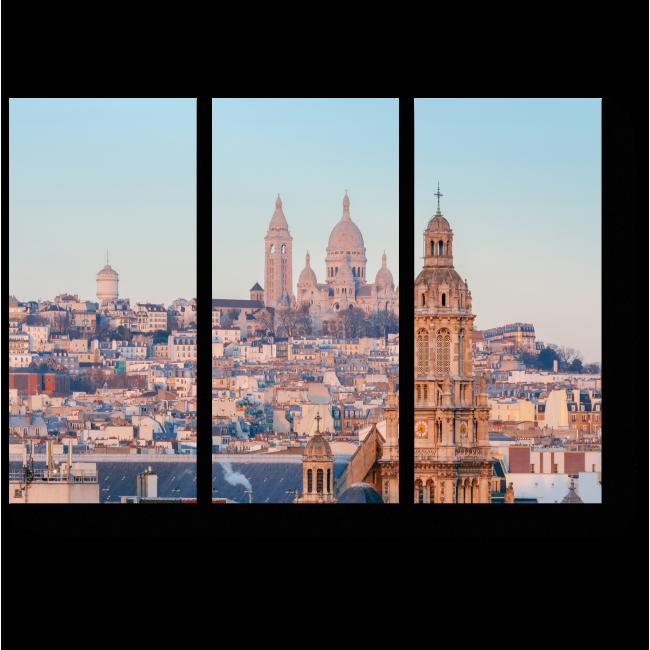 Модульная картина Вид на Монмартр, Париж