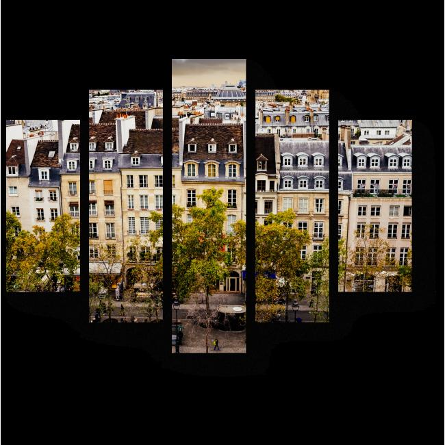 Модульная картина Над крышами Парижа