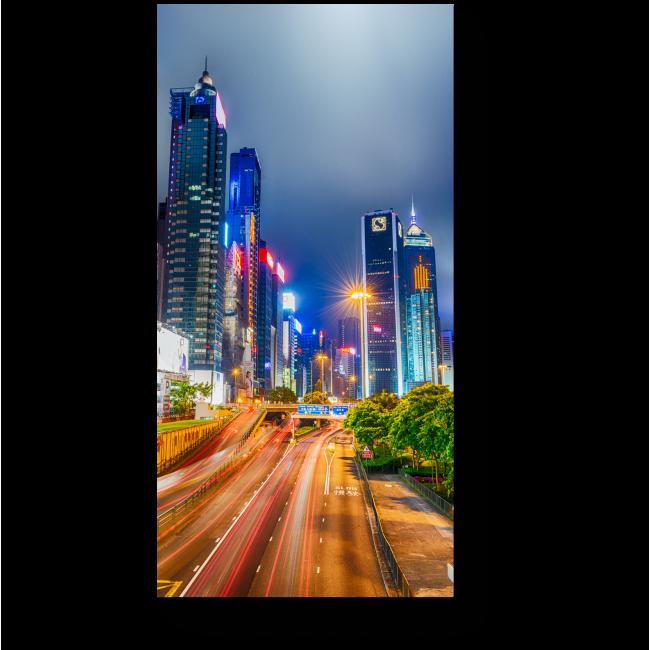 Модульная картина Чудесная панорама ночного Гонконга