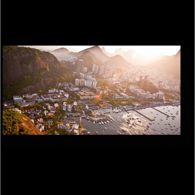 Модульная картина Рио-де-Жанейро в лучах солнца
