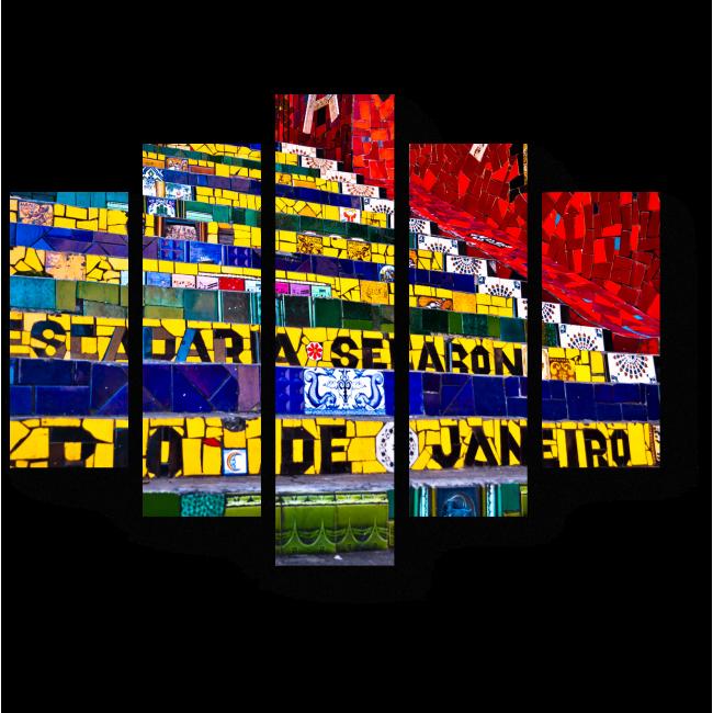 Модульная картина Яркие краски Рио