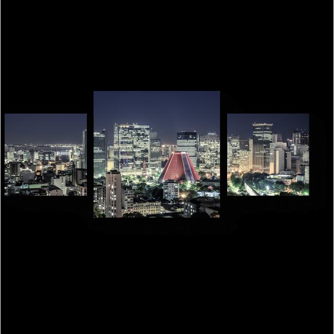 Модульная картина Ночные огни Рио