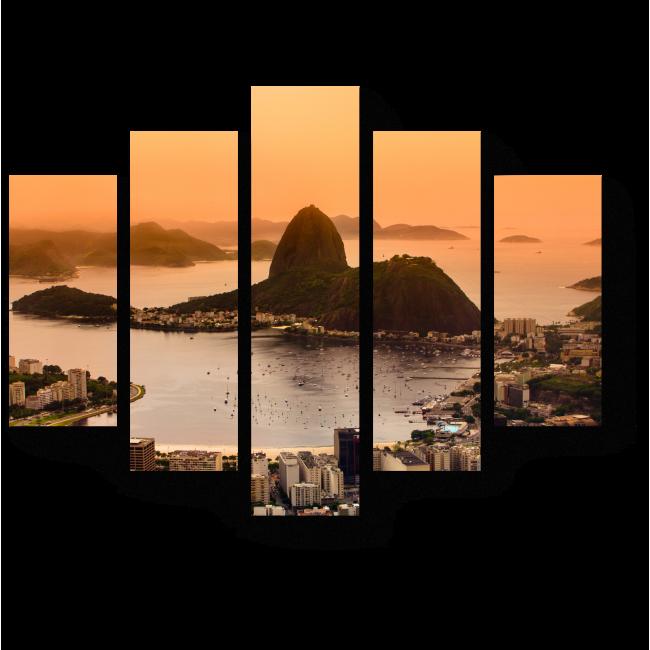 Модульная картина Город невероятных закатов