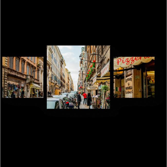 Модульная картина Уютные улицы Рима