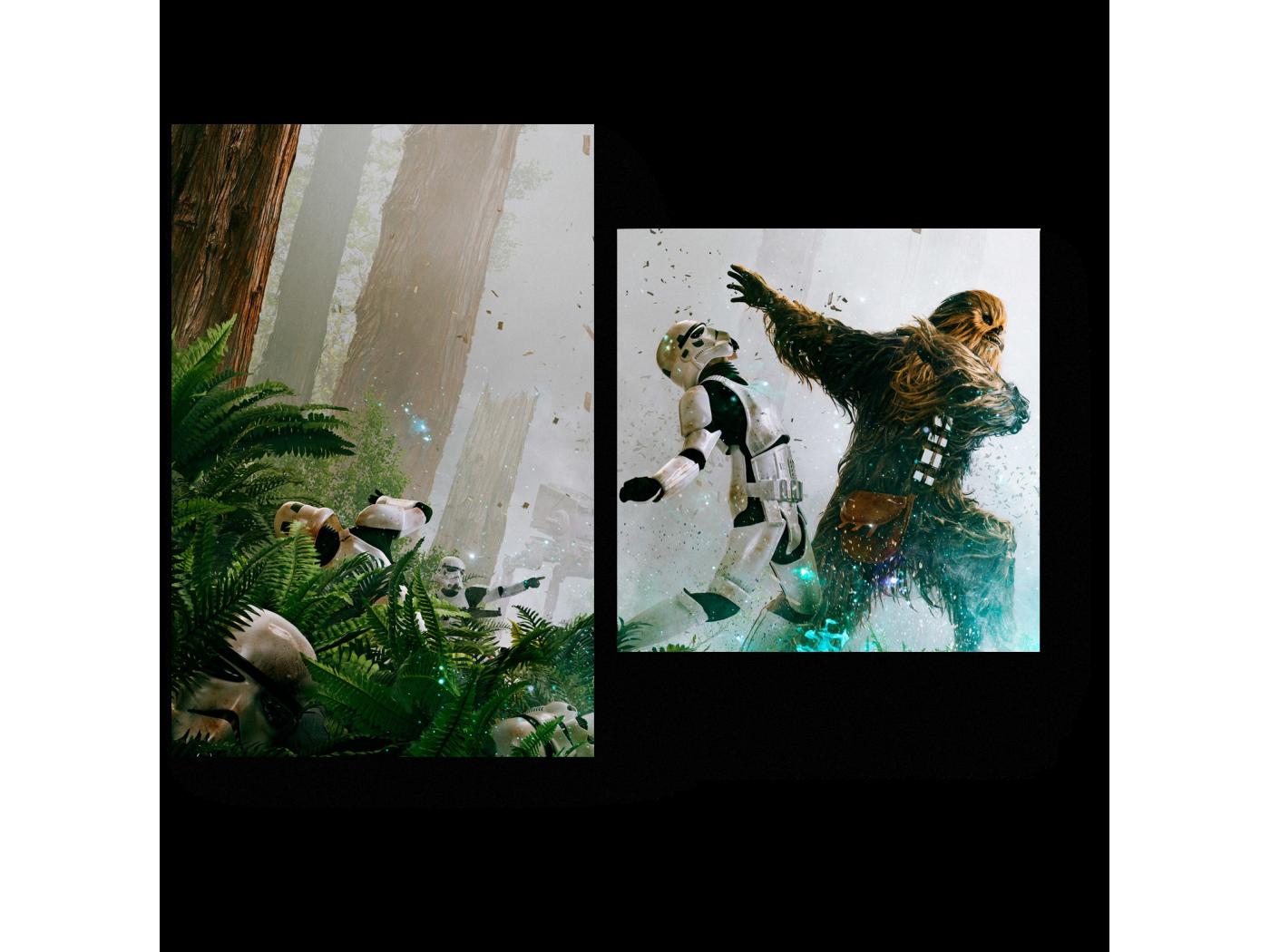 Модульная картина Звездный войны. (40x30) фото