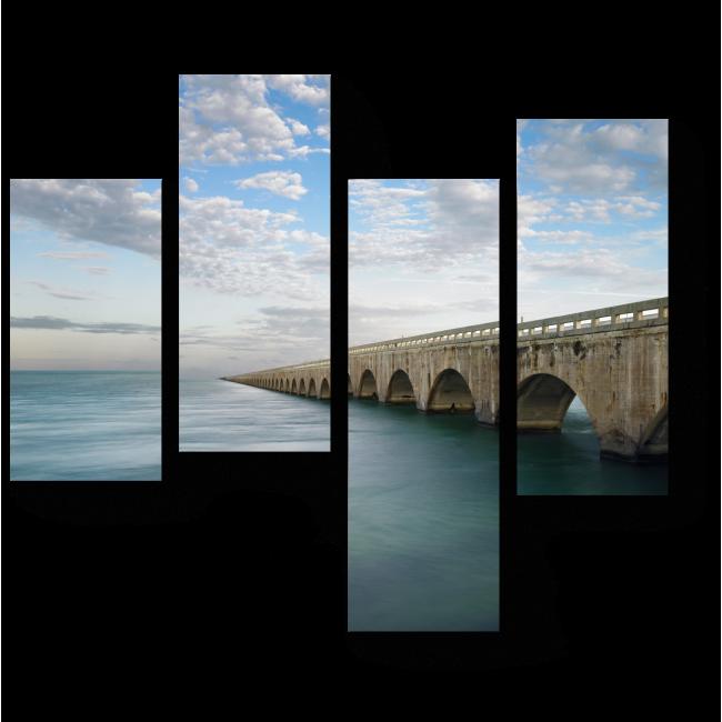 Модульная картина Заморское шоссе во Флориде