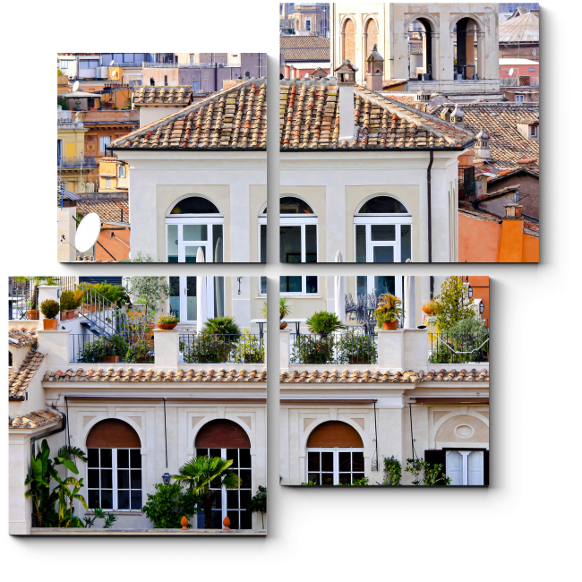 Модульная картина Красоты города
