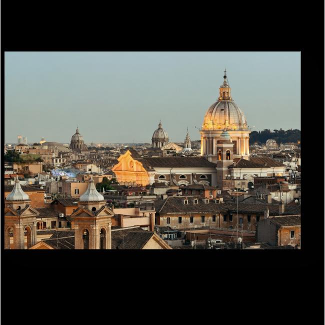 Модульная картина Вечерний Рим