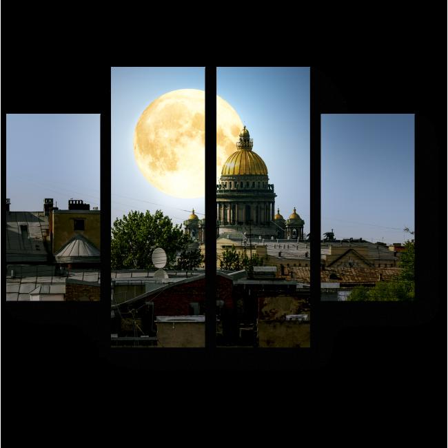 Модульная картина В лунном свете