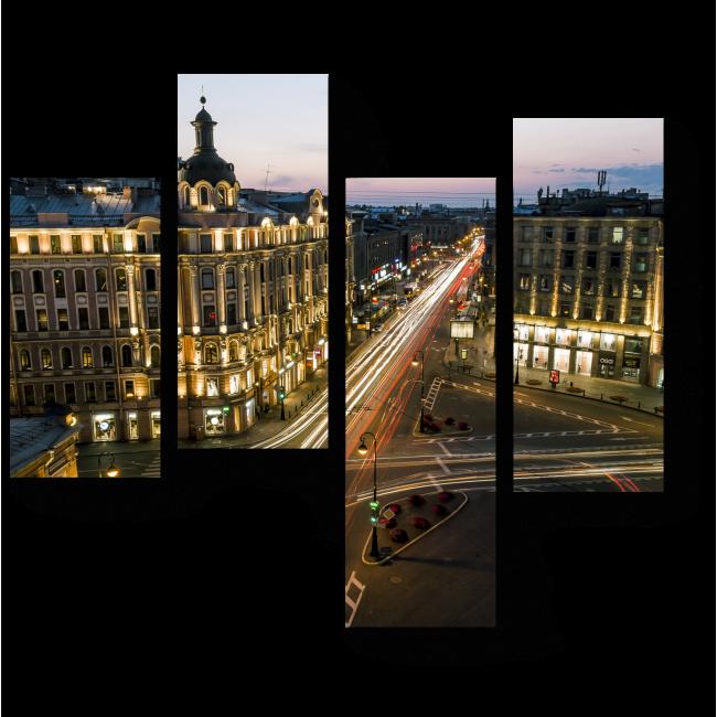 Модульная картина В сердце Санкт-Петербурга