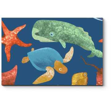 Дружные морские обитатели