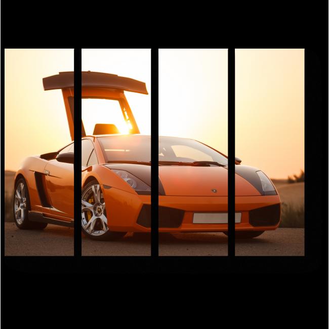 Модульная картина Оранжевый Ламборгини