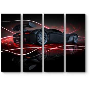 Модульная картина Спортивный автомобиль