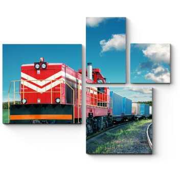 Красный поезд