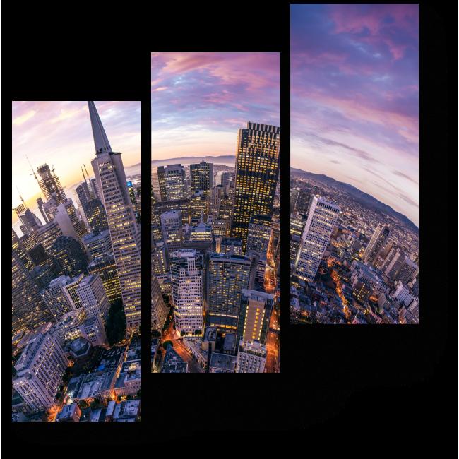 Модульная картина Вечерний город
