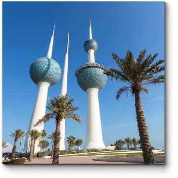 Кювейтские башни и пальмы