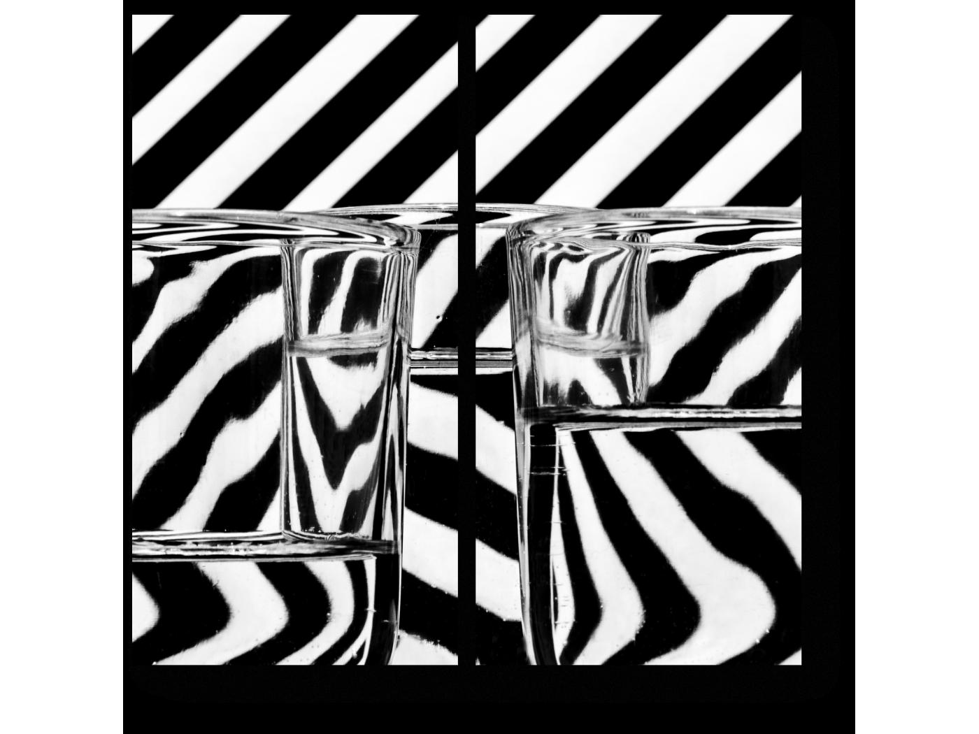 Модульная картина Черно-белая абстракция (40x40) фото