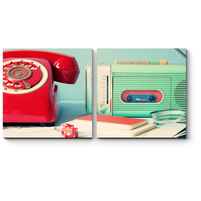Модульная картина Красный телефон