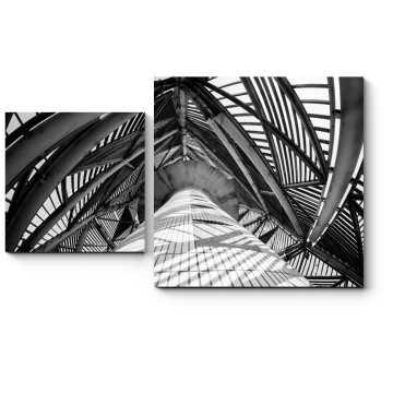 Винтовая черно-белая лестница