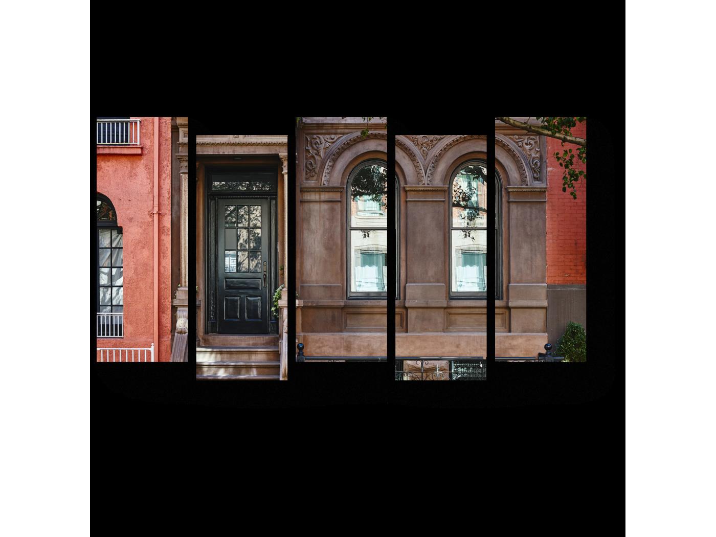 Модульная картина Старинное здание (90x52) фото