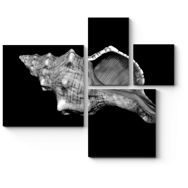 Модульная картина Глубина черного